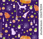 halloween seamless pattern.... | Shutterstock .eps vector #326378204