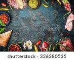 ingredients for italian snack ... | Shutterstock . vector #326380535