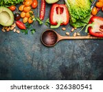 colorful organic vegetables... | Shutterstock . vector #326380541