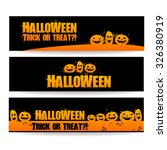halloween banners   vector...   Shutterstock .eps vector #326380919