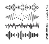 set of sound audio waves music. ... | Shutterstock .eps vector #326381711
