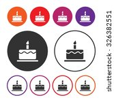 birthday cake icon. cake icon....