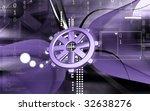digital illustration of wheel