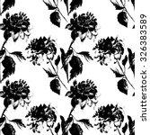 flower dahlia seamless pattern   Shutterstock . vector #326383589