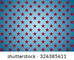 abstract red stars on blue... | Shutterstock .eps vector #326385611