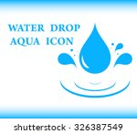 blue background water with drop ... | Shutterstock . vector #326387549