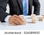close up of businessman... | Shutterstock . vector #326389835