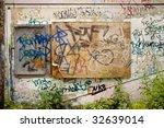 detail of graffiti on concrete