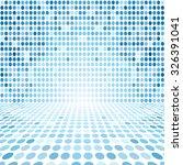 blue dot empty perspective... | Shutterstock . vector #326391041