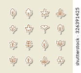 a set of vector icon for fall ... | Shutterstock .eps vector #326391425