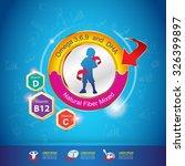 omega 3 and vitamin for kids... | Shutterstock .eps vector #326399897