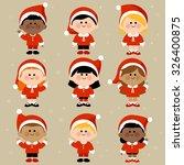 diverse group of children... | Shutterstock .eps vector #326400875