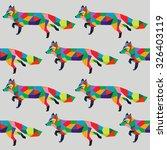 polygon art geometrical color... | Shutterstock .eps vector #326403119