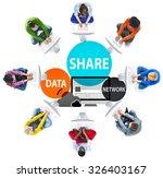 share data network sharing... | Shutterstock . vector #326403167