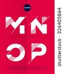 typographic alphabet in a set... | Shutterstock .eps vector #326405864