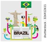 vector brazil jesus soccer...   Shutterstock .eps vector #326412611