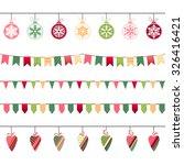 christmas garlands  endless... | Shutterstock .eps vector #326416421