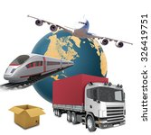 transport with earth on... | Shutterstock . vector #326419751