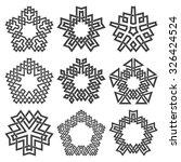 set of pentagonal frames. nine...   Shutterstock .eps vector #326424524