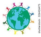 large long distance marathon....   Shutterstock .eps vector #326426471