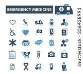 emergency medicine icons | Shutterstock .eps vector #326428991