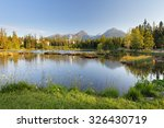 lake in slovakia mountain ... | Shutterstock . vector #326430719