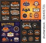 halloween badge and label... | Shutterstock .eps vector #326431721
