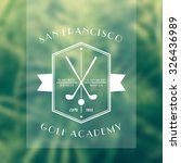 golf academy vintage white logo ... | Shutterstock .eps vector #326436989