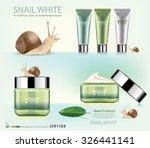 snail cosmetic packaging design.... | Shutterstock .eps vector #326441141