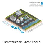 isometric wastewater treatment... | Shutterstock .eps vector #326442215