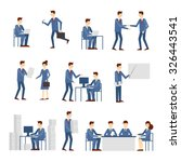 business people in an office... | Shutterstock .eps vector #326443541