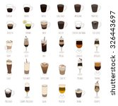 coffee types isolated vector set | Shutterstock .eps vector #326443697