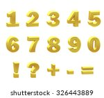 render of a numerals on a white ... | Shutterstock . vector #326443889