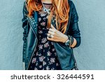 girl in fashionable clothes | Shutterstock . vector #326444591