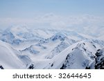 austrian snowy alps and blue sky | Shutterstock . vector #32644645