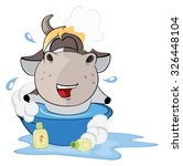 a small cow. cartoon   Shutterstock . vector #326448104