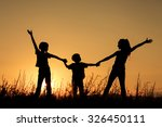 happy children playing in the... | Shutterstock . vector #326450111