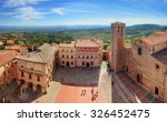 Montepulciano Town Panorama In...