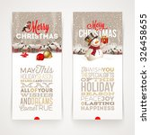 christmas banners with type... | Shutterstock .eps vector #326458655