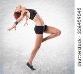 ballerina dancing  | Shutterstock . vector #326459045