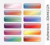 high gloss buttons | Shutterstock .eps vector #326461124