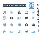 accounting  finance icons | Shutterstock .eps vector #326463119