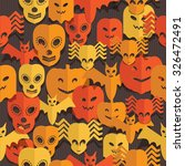seamless halloween pattern with ... | Shutterstock .eps vector #326472491
