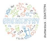 set of hand drawn chemistry...   Shutterstock .eps vector #326475794