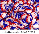 background with round pins with ... | Shutterstock . vector #326475914