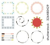 set of tribal frames and arrows | Shutterstock .eps vector #326480429
