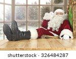window of winter and santa... | Shutterstock . vector #326484287
