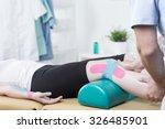 photo of patient with elastic...   Shutterstock . vector #326485901