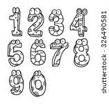 cartoon number | Shutterstock .eps vector #326490581