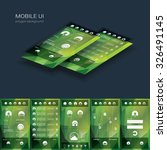 mobile user interface vector...